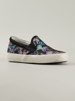 Philippe Model - Butterfly Print Slip-On Sneakers