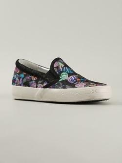 Philippe Model - Butterfly Print Slip-On Sneakers