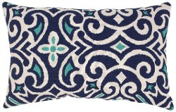 Pillow Perfect - Damask Rectangular Throw Pillow