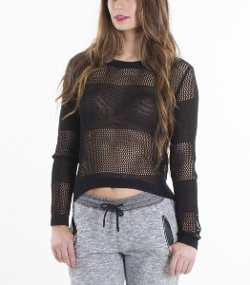 Standard Issue NYC - Fishnet Long Sleeve Top
