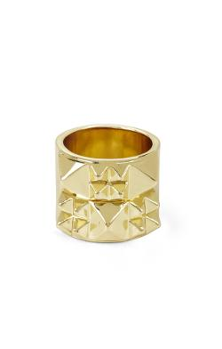 BCBGMAXAZRIA - Pyramid-Studded Ring
