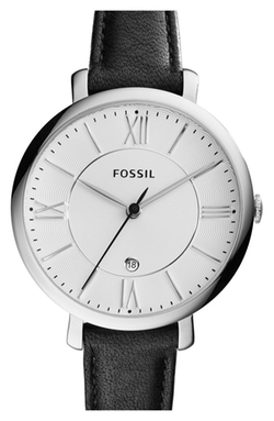 Fossil  - Jacqueline Round Leather Strap Watch