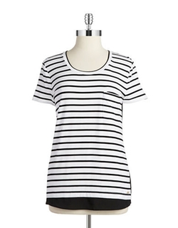 Calvin Klein  - Striped Pocket Tee