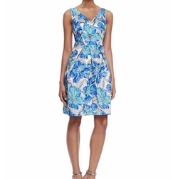 Kay Unger New York  - Floral-Brocade Cocktail Dress