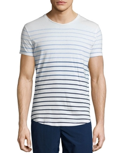 Orlebar Brown - Gradient-Stripe Short-Sleeve Tee