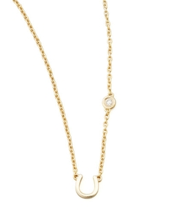 SHY by SE  - Horseshoe & Single-Diamond Necklace