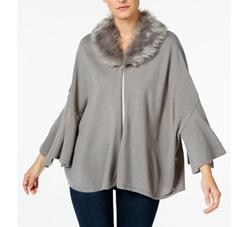 Alfani - Petite Faux-Fur-Collar Capelet