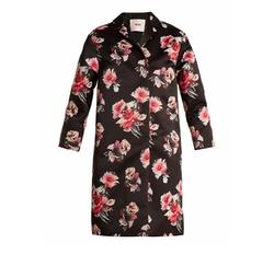 MSGM  - Floral-Print Satin Coat