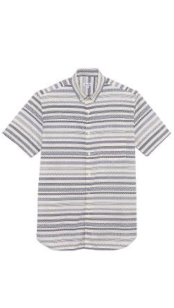 Steven Alan  - Pattern Stripe Short Sleeve Shirt