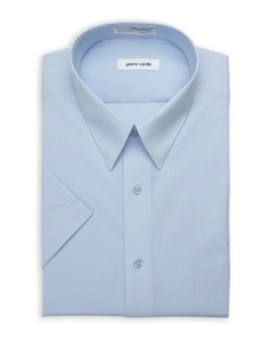 Pierre Cardin - Copen Blue Short Sleeve Dress Shirt