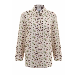 Mod Dolly - Monica Acorn Print Shirt