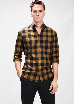 Mango - Slim-Fit Check Shirt