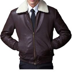 Najia Symbol - Faux Shearling Aviator Jacket