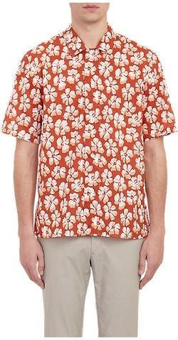 Agnès B. X Barneys New York - Hibiscus-Print Button-Front Shirt