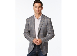 Tallia Vista  - Windowpane Slim- Fit Wool Sport Coat