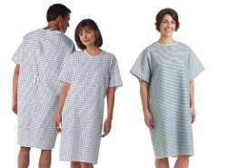 BH Medwear - Traditional Adult Unisex Hospital Gowns