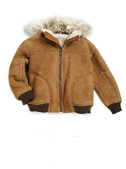 Dolce & Gabbana - Hooded Fur-Trim Leather Jacket