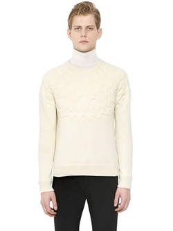 Neil Barrett  - Embossed Wool & Cotton Sweater