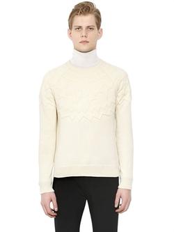 Neil Barrett  - Embossed Wool & Cotton Sweater