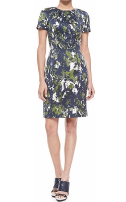 Jason Wu - Short-Sleeve Abstract-Print Sheath Dress
