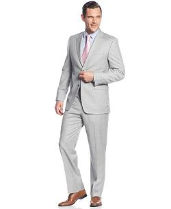Donald J.  - Trump Suit Light Grey Stripe