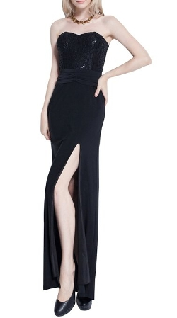 Listen To Me - Sweetheart Beading Split Slit Party Evening Dress