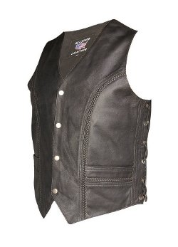 Allstate Leather - Braided Front & Back Vest
