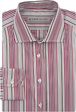 Etro - Variegated-Stripe Poplin Shirt