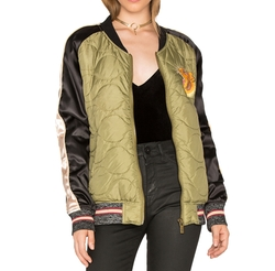 Maison Scotch - Quilted Army Bomber Jacket
