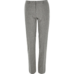 River Island - Grey Skinny Suit Pants
