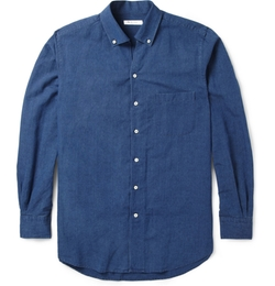 Loro Piana - Cotton And Linen-Blend Chambray Shirt