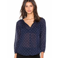 Velvet By Graham & Spencer - Berlina Printed Cotton Voile Top