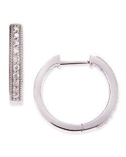JudeFrances Jewelry  - White Gold Camelia Hoop Earrings
