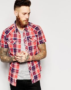 Lee  - Western Check Short Sleeve Shirt