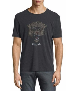 John Varvatos - Star USA Leopard-Head Short-Sleeve Graphic T-Shirt