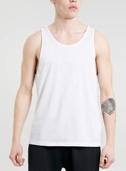 Topman - White New Fit Classic Tank