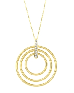 Carelle - Moderne Circle Pendant Necklace