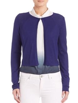 Elie Tahari  - Mikah Cropped Sweater Cardigan