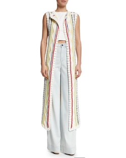 Alice + Olivia - Rudy Long Multipattern Vest