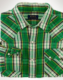 Ralph Lauren - Plaid Cotton Western Workshirt