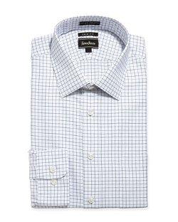 Neiman Marcus - Dashed Check Dress Shirt