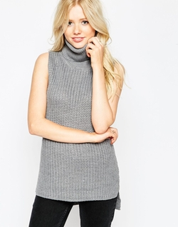 Brave Soul - Sleeveless High Neck Sweater
