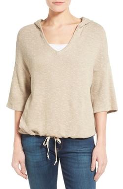 Caslon - Textured Pullover Hoodie