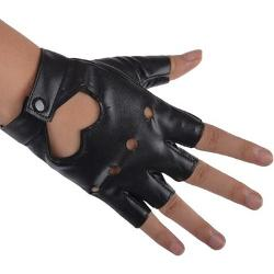 Ostart  - Women PU Leather Motorcycle Bike Car Fingerless Performance Glove