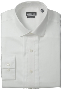Kenneth Cole - Slim-Fit Solid Button-Front Shirt