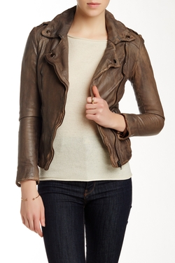 Muubaa - Athena Leather Biker Jacket