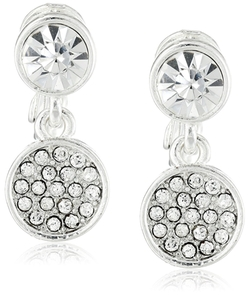 Napier - Double-Drop Clip-On Earrings