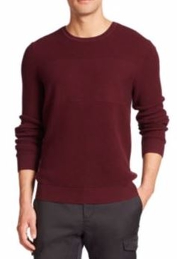 Saks Fifth Avenue Collection  - Wool & Cotton Crewneck Pullover Sweater