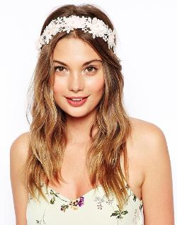 ASOs  - Floral Headband & Ribbon