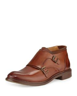 Paul Smith	 - Gill Double-Buckle Monk-Strap Shoes